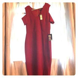 NWT, Red hot cold shoulder dress from Express.